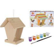 eichhorn knutselset eichhorn outdoor, voederhuisje om in elkaar te zetten en te beschilderen; made in europe (set) beige