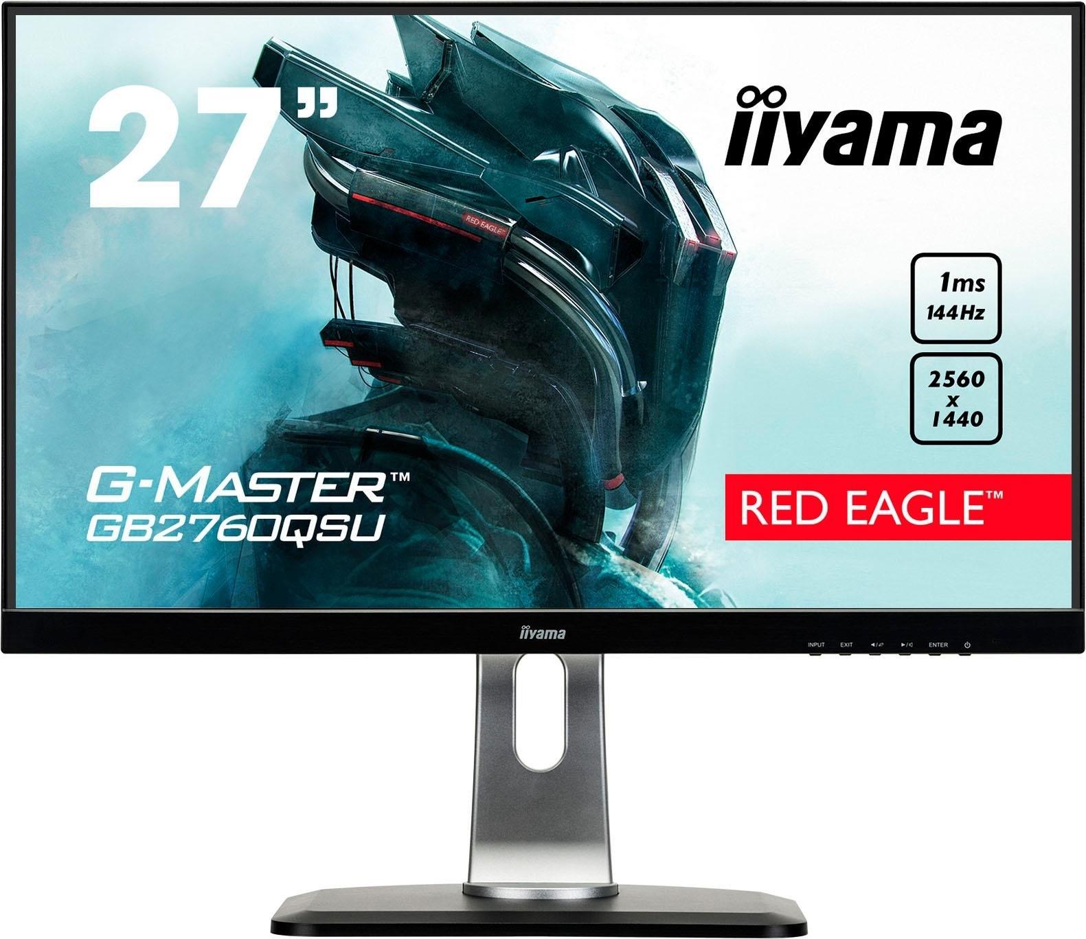 Iiyama »GB2760QSU-B1« gaming-ledscherm (68,5 cm / 27 inch, 2560x1440 pixels, WQHD, 1 ms, 144 Hz) goedkoop op otto.nl kopen