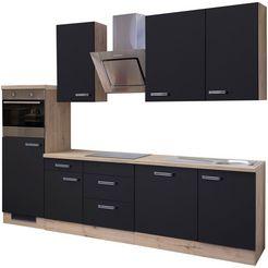 keukenblok met elektrische apparaten »antigua«, breedte 280 cm zwart