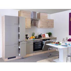keukenblok met elektrische apparaten »riva«, breedte 310 cm bruin