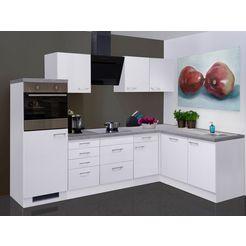 keukenblok met elektrische apparaten »kopenhagen«, breedte 280x170 cm wit