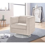 inosign fauteuil »bob« draaibaar met plateauvoet beige