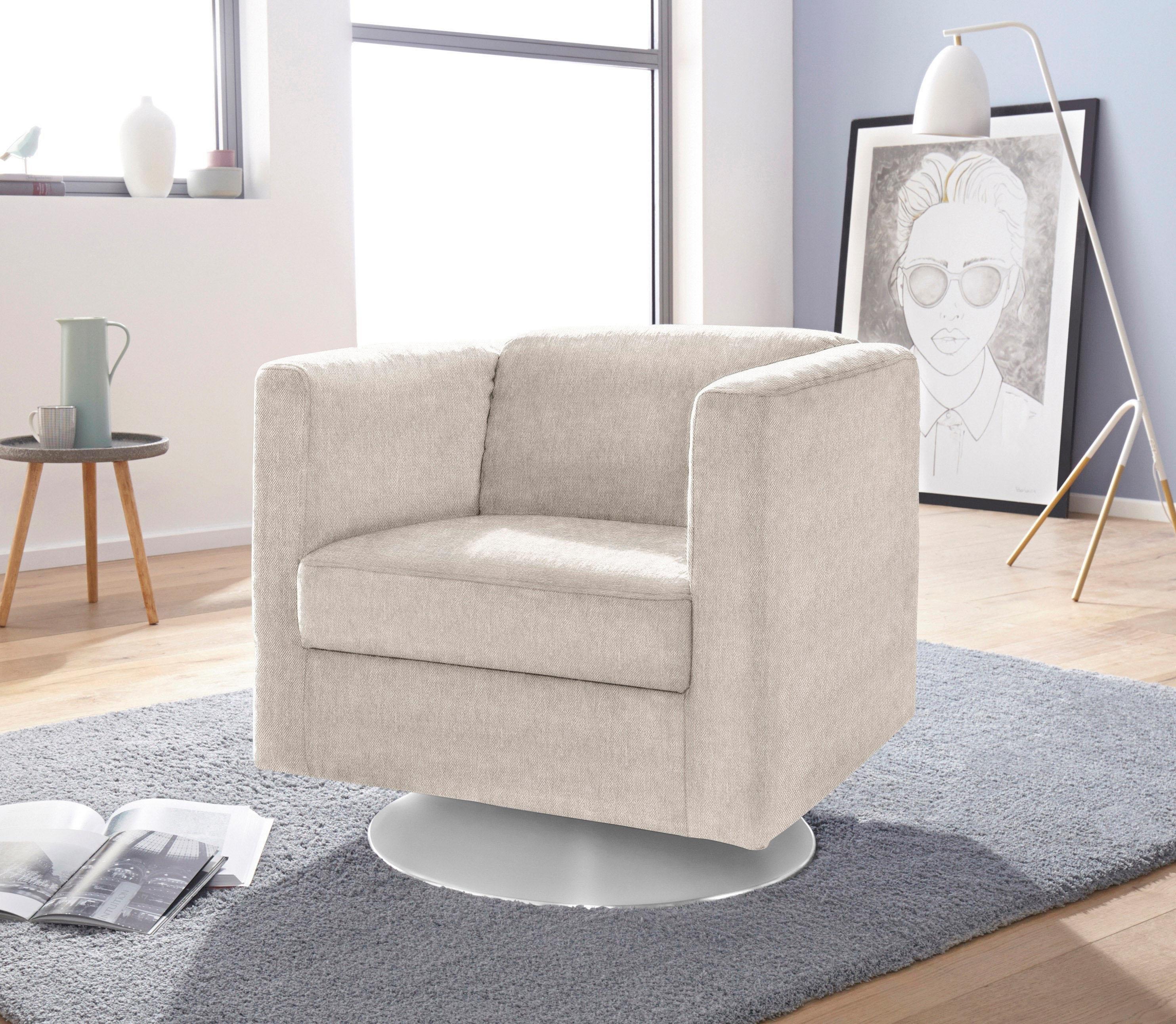 Inosign fauteuil »Bob« draaibaar met plateauvoet bestellen: 14 dagen bedenktijd