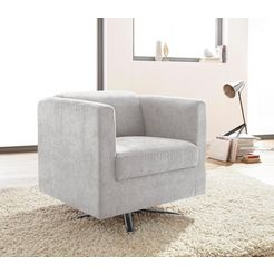 inosign fauteuil »bob«, draaibaar met stervoet zilver