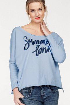 cotton candy sweatshirt »bente« blauw