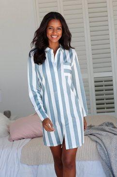 vivance dreams nachthemd in overhemd-look grijs