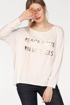 cotton candy shirt met lange mouwen »bente« wit