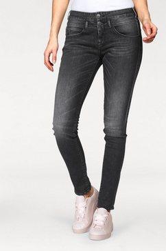 herrlicher slim fit jeans »baby slim« zwart