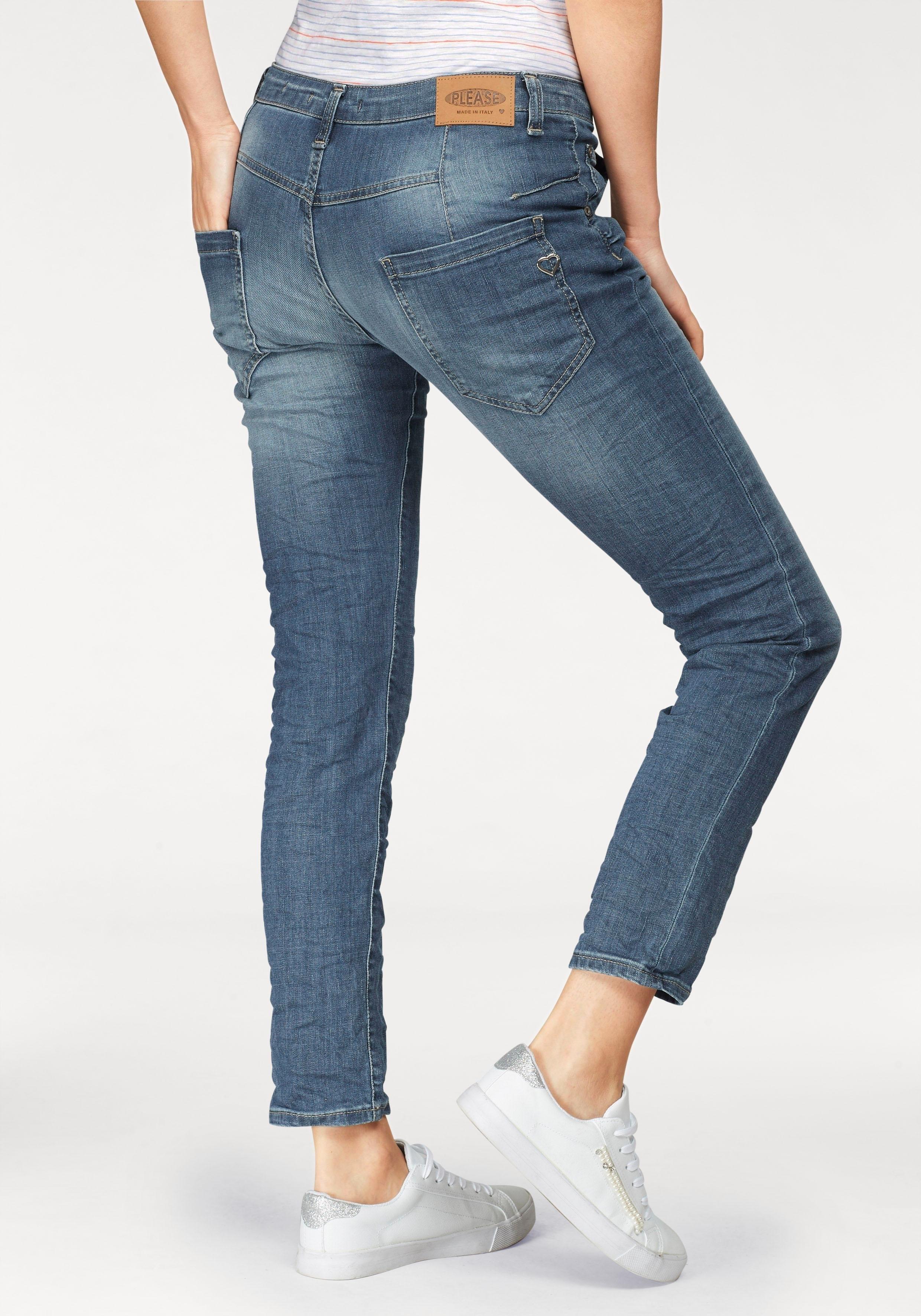 Please Jeans boyfriendjeans P85A casual jeans broek met gekreukt effect en oprolbare pijpen veilig op otto.nl kopen