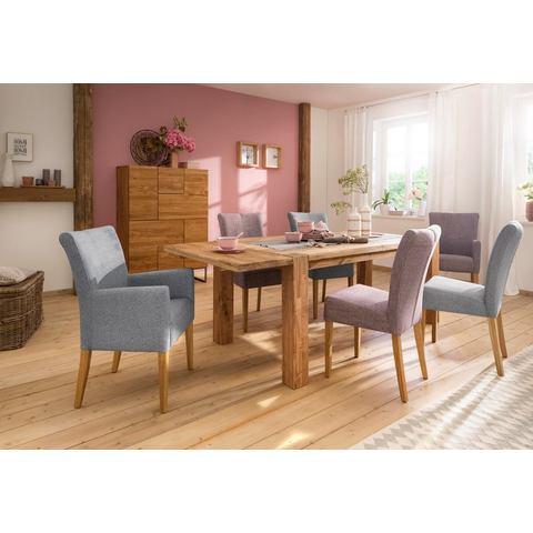 Home affaire eettafel Marianne in mooie hout-look en met optioneel te bestellen insteekblad
