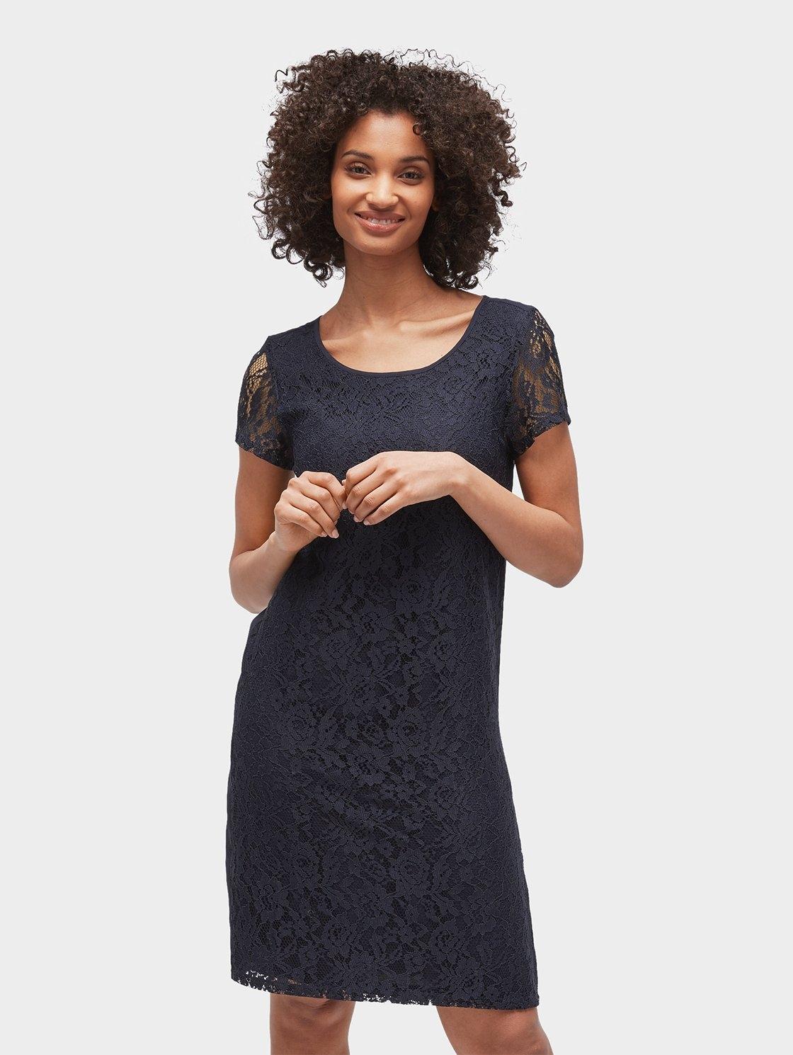 e864aa0a26d828 Afbeeldingsbron  TOM TAILOR kanten jurk »kanten jurk met korte mouwen«