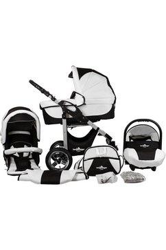 bergsteiger combi-kinderwagen capri, black  white, 3-in-1 (10-delig) zwart