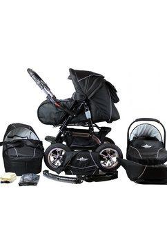 bergsteiger combi-kinderwagen, 10-delig, »milano, black edition, 3in1« zwart
