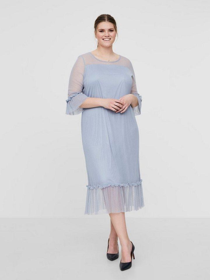 Junarose Mesh jurk blauw