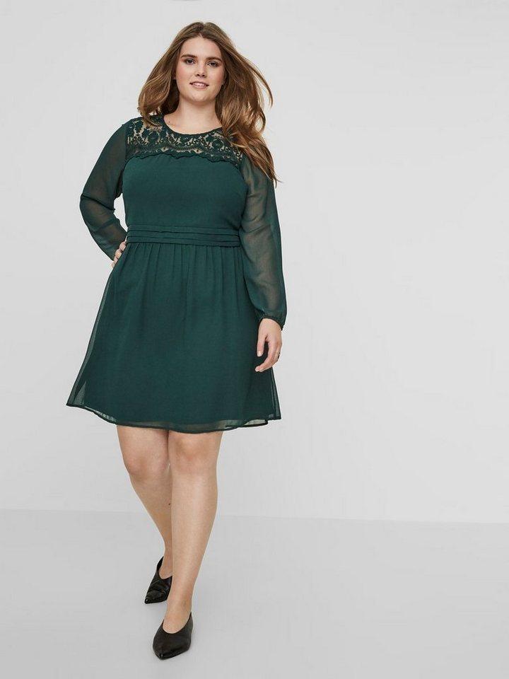 Junarose Met kant gedetailleerde jurk met lange mouwen groen