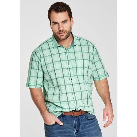 NU 15% KORTING: s.Oliver RED LABEL Regular: geruit overhemd met korte mouwen