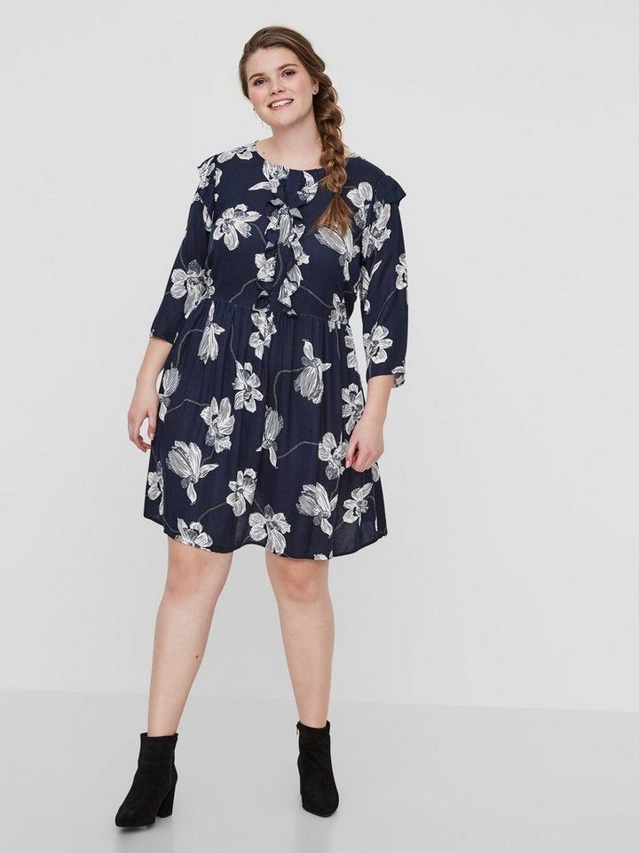 Junarose Bedrukte jurk blauw