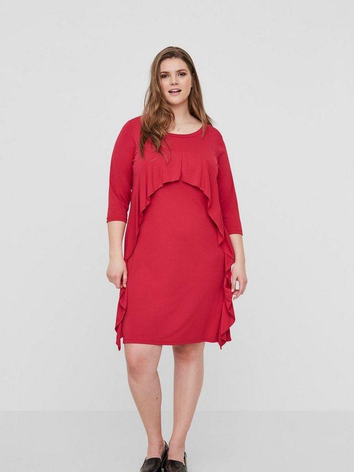 Junarose Vrouwelijke jersey jurk rood