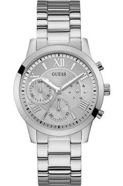 guess multifunctioneel horloge »solar, w1070l1« zilver