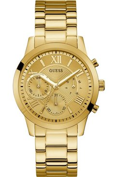 guess multifunctioneel horloge »solar, w1070l2« goud
