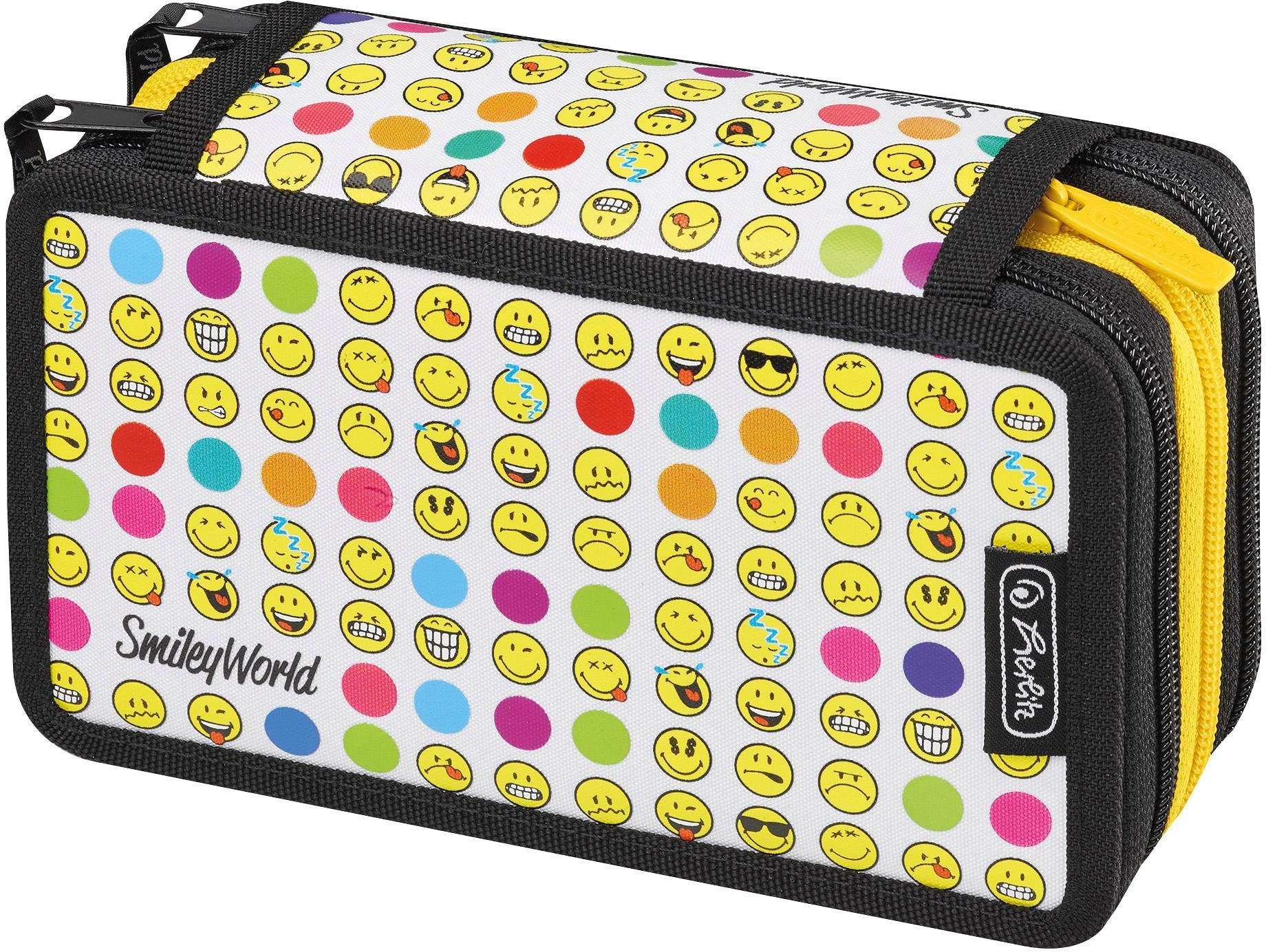 Herlitz etui met inhoud, 31-delig, »Triple Decker, Smiley World Rainbow Faces« - gratis ruilen op otto.nl