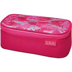 herlitz schooletui, »faulenzer beatbox, camouflage pink« roze