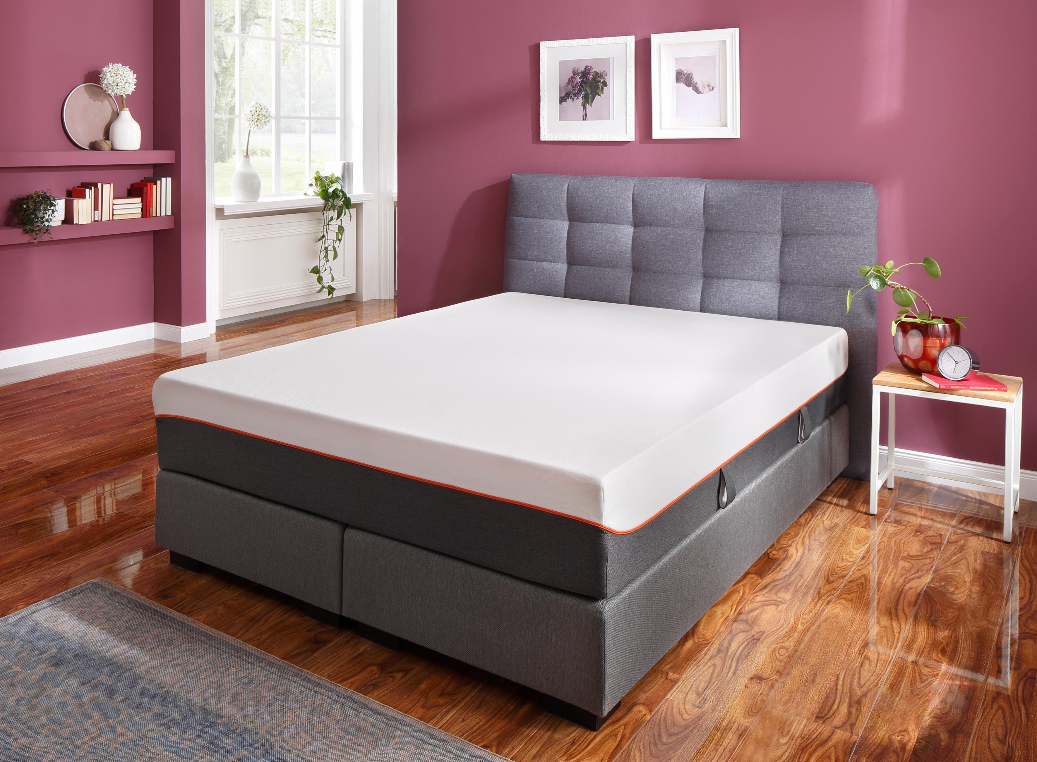 SonnCo comfortschuimmatras Cooper Met perfecte drukvermindering door 4 cm hoog op latex lijkend zacht schuim aan de bovenkant. Ideaal voor iedereen, die graag zacht wil slapen hoogte 28 cm - verschillende betaalmethodes