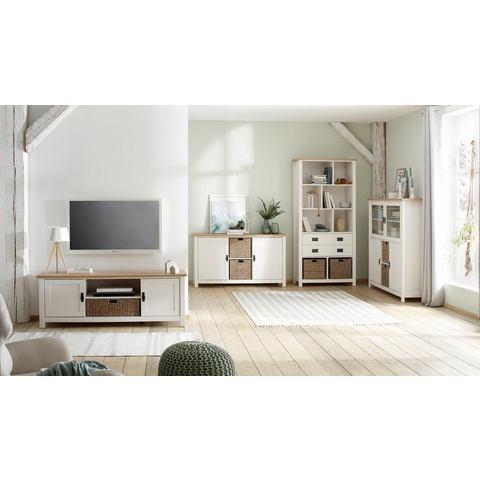 Home affaire tv-meubel Georgina met 2 deuren, 2 open vakken en 1 mand, breedte 148 cm
