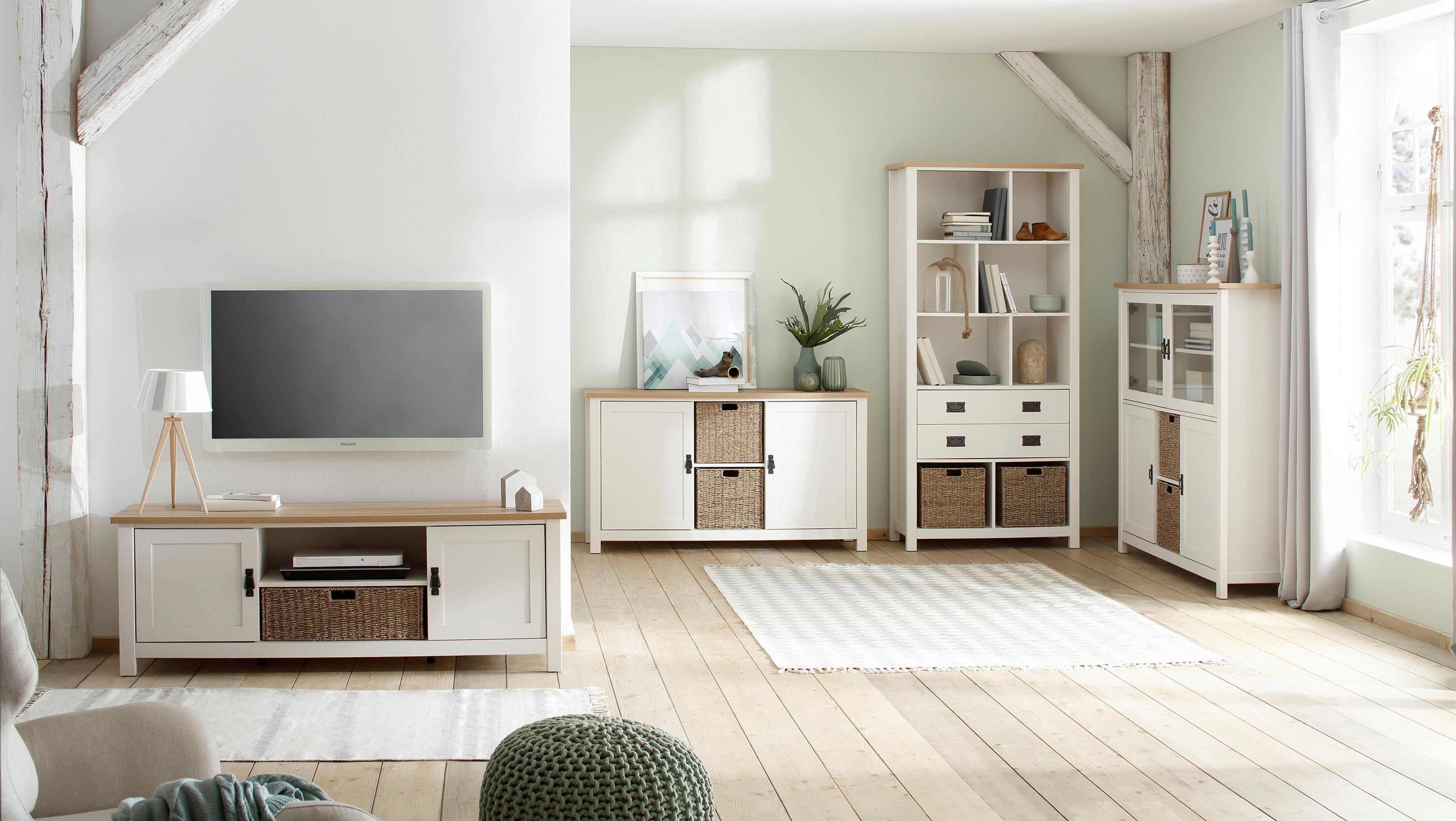 Home Affaire tv-meubel »Georgina« met 2 deuren, 2 open vakken en 1 mand, breedte 148 cm in de webshop van OTTO kopen