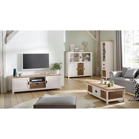 Home affaire tv-meubel Georgina, met 2 deuren, 2 open vakken en 1 mand, breedte 170 cm