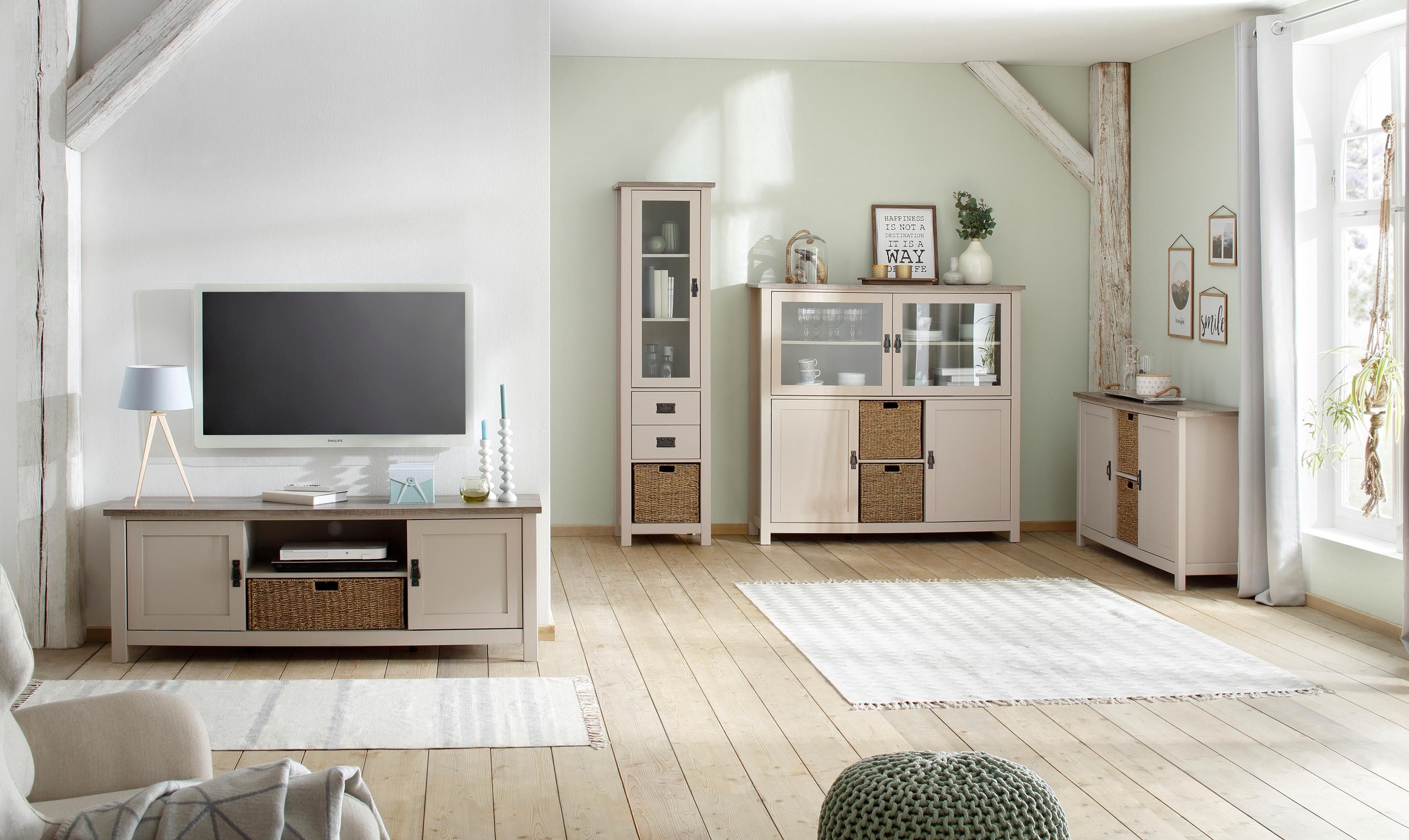 Kast Met Manden : Landelijk tv meubel met ombouw incl manden aw leverbaar
