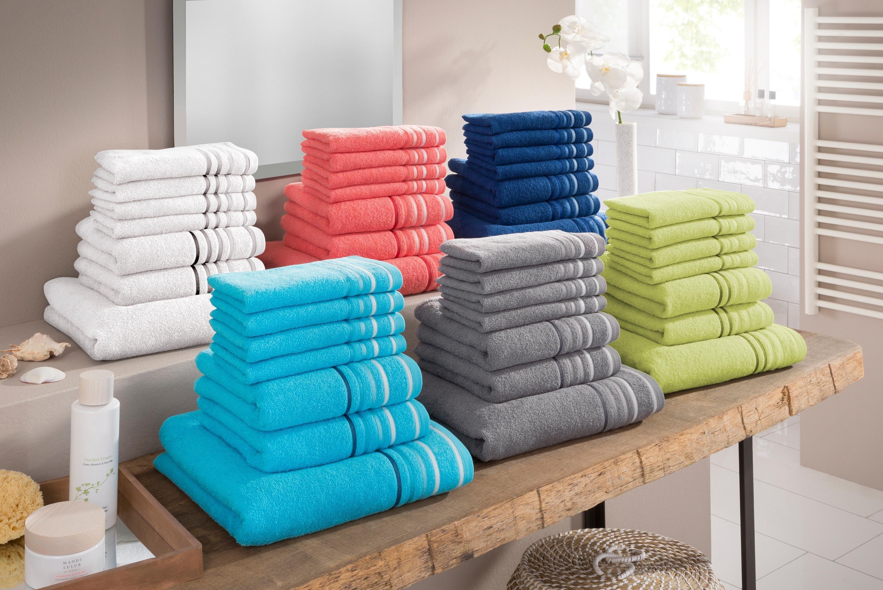 my home Handdoekenset, »Niki«, met gestreepte rand (7-delige set) in de webshop van OTTO kopen