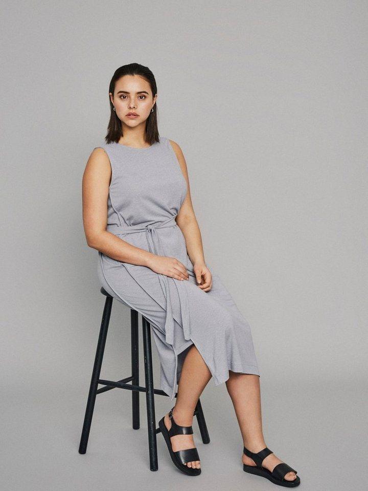 Junarose Midi jurk grijs