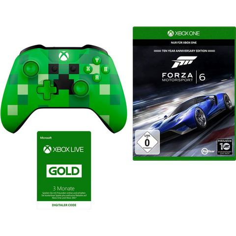 Xbox One controller Minecraft (set, inclusief Forza 6 + 3 maanden Live Gold)