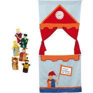 roba deurpoppenkast poppenkast met handpoppen (set, 7-delig) multicolor