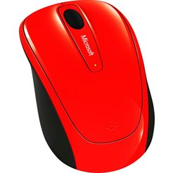 microsoft »wireless mobile mouse 3500 flame red« muis rood