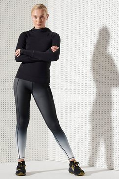 superdry sport runningtights »running sprint leggings« zwart