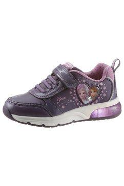 geox kids sneakers j spaceclub girl schoen met knipperlichtje met knipperlichtje paars