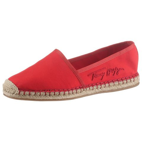 Tommy Hilfiger espadrilles TH SIGNATURE ESPADRILLE in smalle schoenwijdte, met logo-opschrift opzij