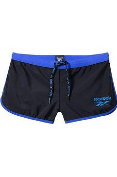 reebok zwemboxer met contrastdetails zwart