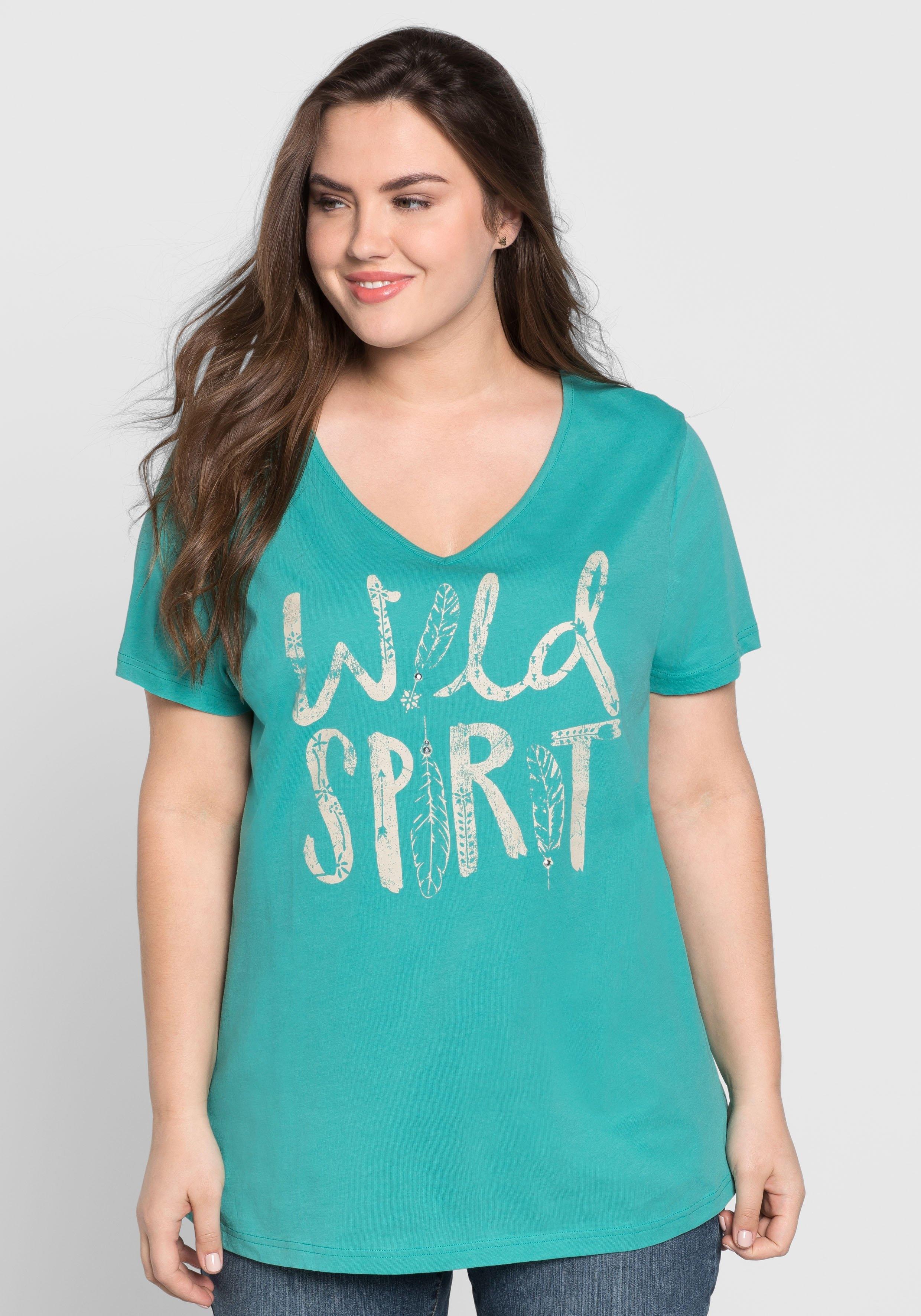 Sheego Casual T-shirt nu online kopen bij OTTO