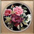 queence artprint op acrylglas veelkleurig bos bloemen ii multicolor