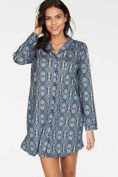 calida nachthemd in klassiek model met fijn paisleymotief grijs