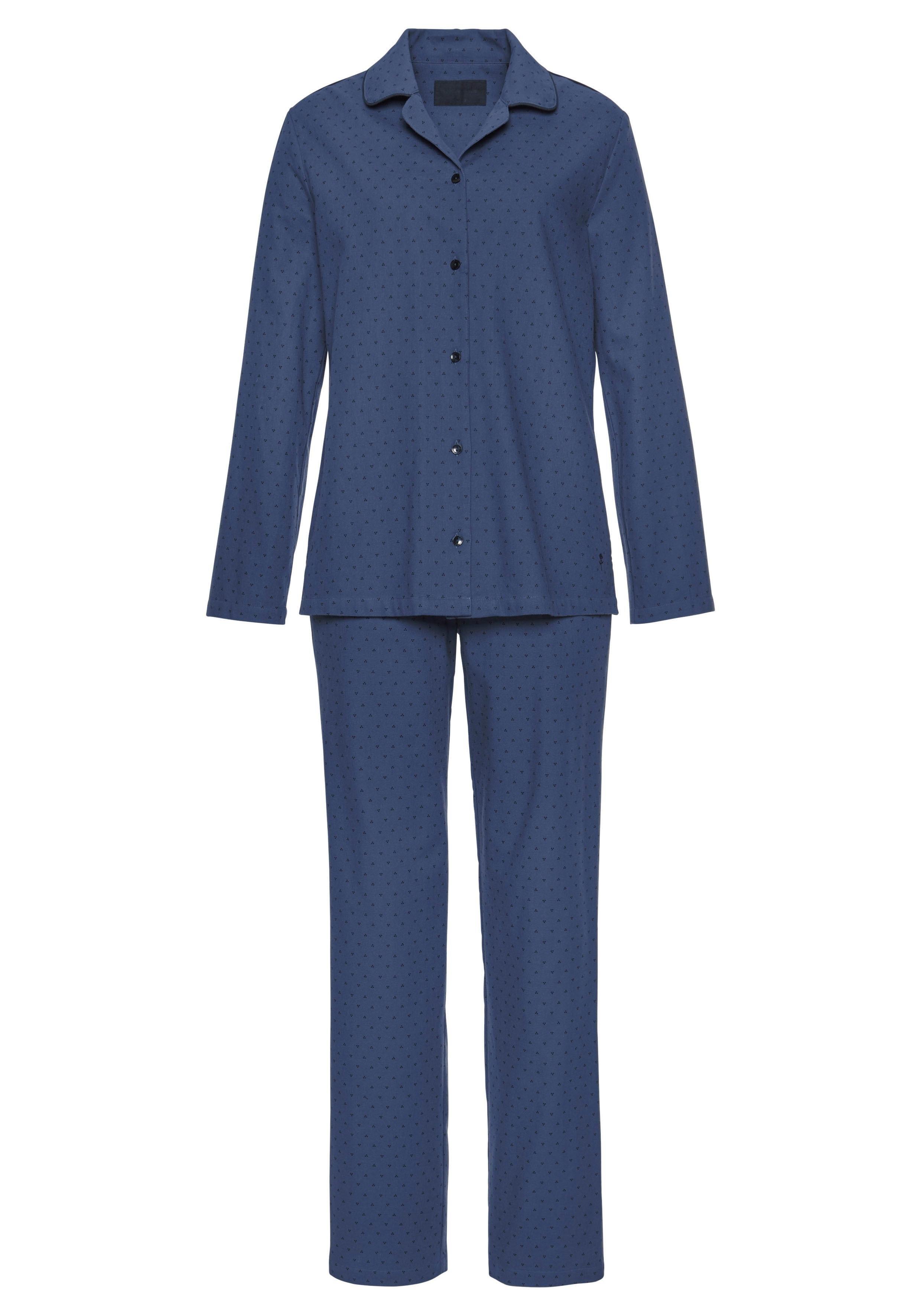 7702c8f2ab8 flanellen pyjama met stippenmotief allover