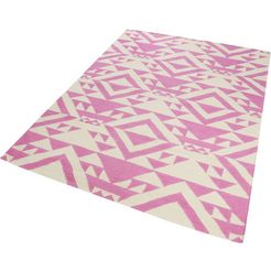 accessorize home wollen kleed mellow zuivere wol, woonkamer roze