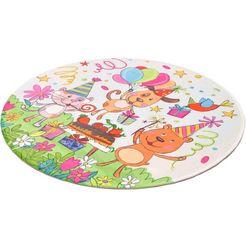 vloerkleed voor de kinderkamer, »lovely kids 418«, boeing carpet, rond, hoogte 6 mm, gedessineerd multicolor