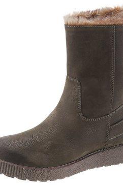 s.oliver red label boots zonder sluiting groen