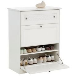 home affaire schoenenkast »lucy« met 2 kleppen, 80 cm breed wit