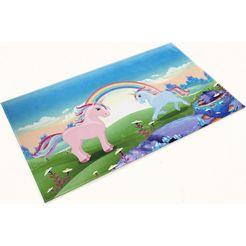 vloerkleed voor de kinderkamer, »lovely kids 419«, boeing carpet, rechth., hoogte 6 mm, gedessineerd multicolor