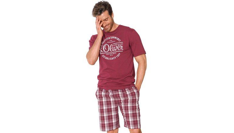 d86b0effba Oliver RED LABEL Bodywear korte heren pyjama met frontprint online  bestellen